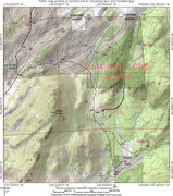 Rock Climbing Photo: A map of the region around the Roaring Fork Rocks