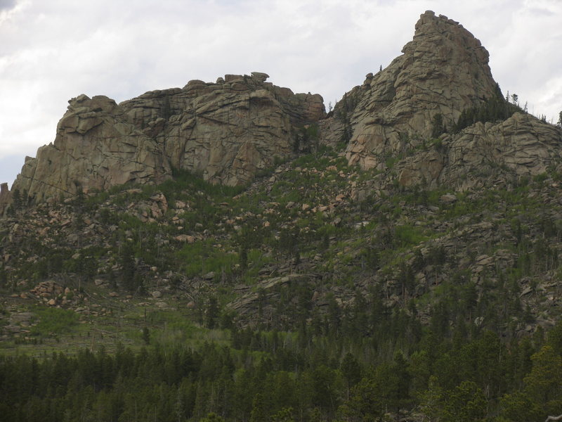 The center outcrops of the Roaring Fork Rock Group