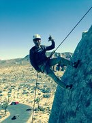 Rappelling with double ropes after doing the Overhang Bypass