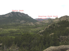 Rock Climbing Photo: Leftmost Roaring Fork Rock group