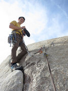 Rock Climbing Photo: Brad on top of Stingray.
