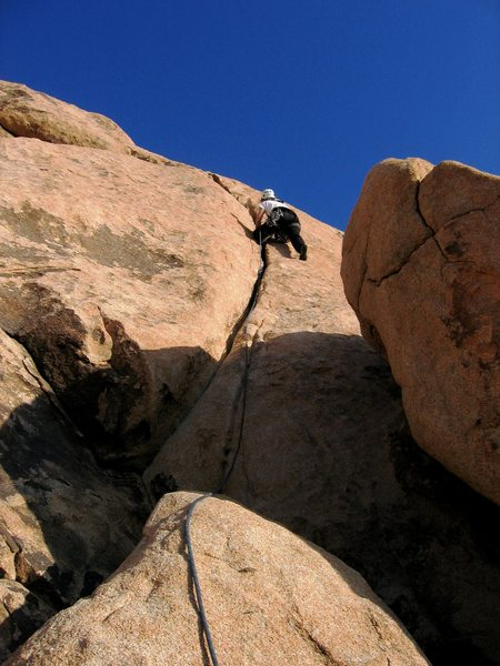 Rock Climbing Photo: P girl bustin' out a lap on Route 66