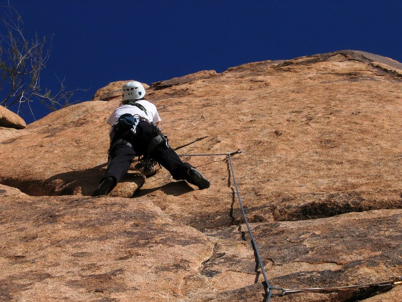 Gettin' ready for the face climbing...<br> <br> Patty Black on point.