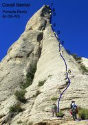 Rock Climbing Photo: Pitch lengths are obviously deceptive based on the...