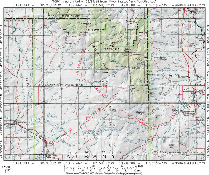 Rock Climbing Photo: MAP 1:  Getting to Sellers Mountain.  Your destina...