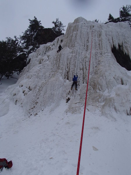 Rock Climbing Photo: Gerry working the (likely) grade 5 middle section ...