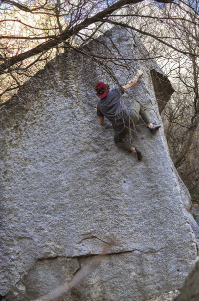 Rock Climbing Photo: Getting ready for that last move.
