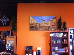 "Rock Climbing Photo: ""Pine Creek Approach"", Sundog Wood Mural..."