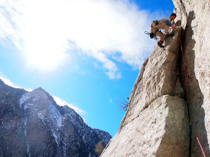 Rock Climbing Photo: First pitch, short but sweet