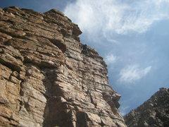 Rock Climbing Photo: Man on the Edge 5.9. FA
