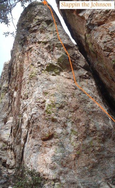 Rock Climbing Photo: Slappin the Johnson (February 2014)