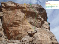 Rock Climbing Photo: Tool Shed: Right End Overview (February 2014)