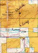 Rock Climbing Photo: Regional Map for land status south of Sellers Moun...