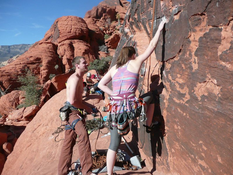 Rock Climbing Photo: Getting ready for a nice easy cooldown route.