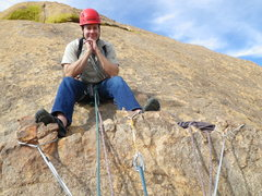 Rock Climbing Photo: Chilling on Moby Dick, Cochise Stronghold.