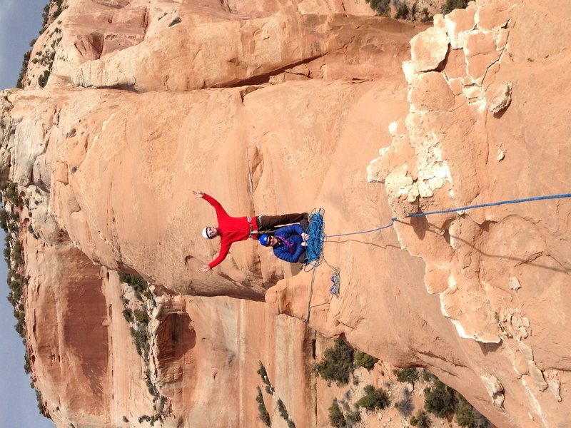 Rock Climbing Photo: The top rap