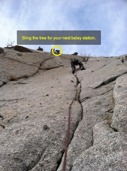 Rock Climbing Photo: Second pitch of Schoolroom. This is me having swap...