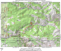 Rock Climbing Photo: MAP 3:  Suggesting starting point and hikeing path...