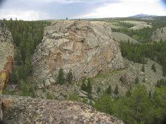 Rock Climbing Photo: Looking NE towards the Boswell Creek Sherman Grani...