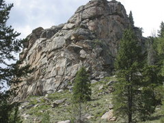 Rock Climbing Photo: Looking NW towards the Boswell Creek Sherman Grani...