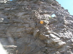 Rock Climbing Photo: Zach Orenczak leading the second pitch of Handcart...