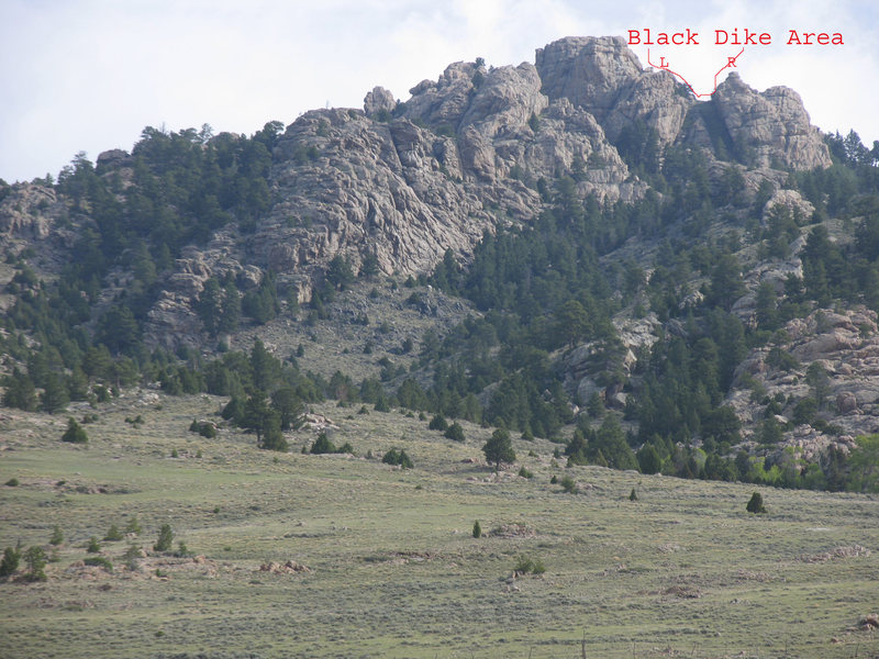 The Black Dike Area of Sellers Mtn.