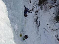 Rock Climbing Photo: Bert & Diane on P2 of Renormalization Photo : Larr...