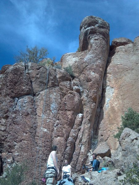 Rock Climbing Photo: Extended runners on GSR for the carabiners to hang...