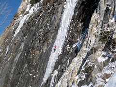 Rock Climbing Photo: Seb Morin on P1 of Called on Account of Rains