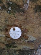 Rock Climbing Photo: name plate