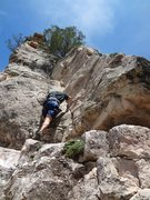 Rock Climbing Photo: Climber on the right hand start (~5.5). Good one f...