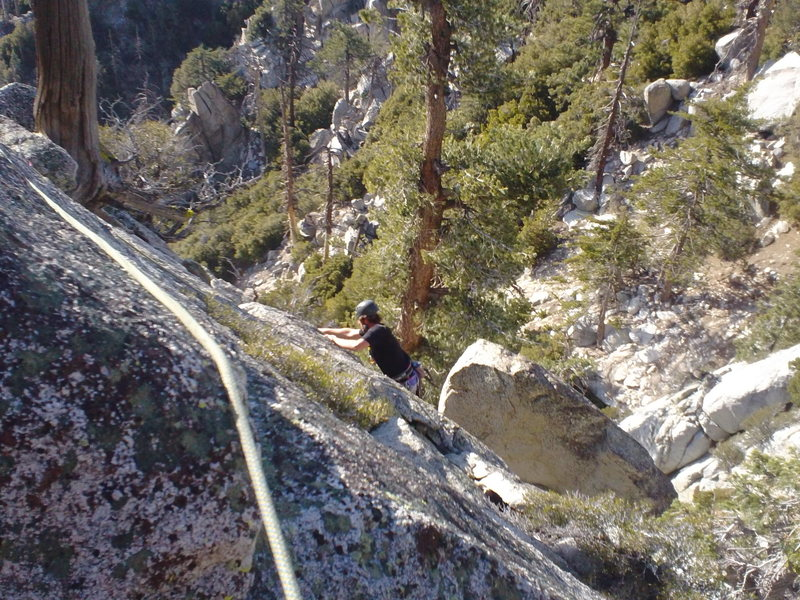 T and I get the First Free Female Ascent of this route.