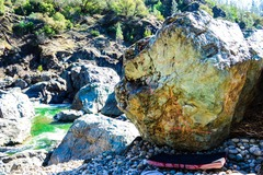 Rock Climbing Photo: the Handlebar boulder has a number of cool variati...