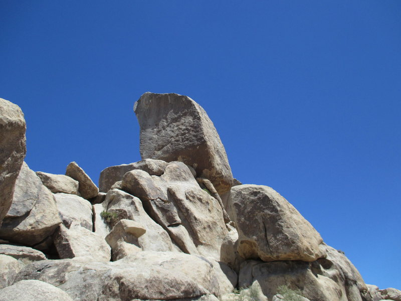 Rock Climbing Photo: shot of the Headstone from the base of the rockpil...