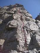 Rock Climbing Photo: Photo by Craig Martin.  Julie is leading on the fi...