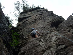 Rock Climbing Photo: Great view at the top of Swamp Rat