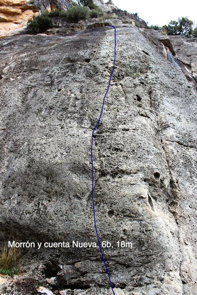 Rock Climbing Photo: Topo of Morrón y Cuenta Nueva