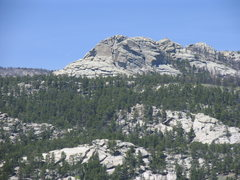 Rock Climbing Photo: Haystack as seen from west of the Cottonwood Park ...