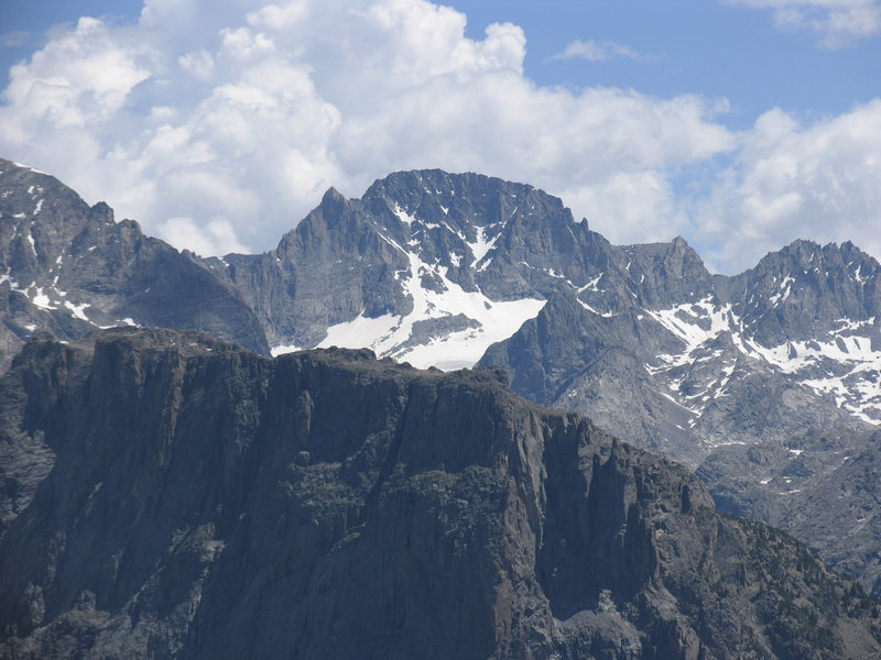 Wyoming's highest:  Gannet Peak from the summit of Square Top.