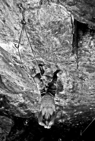 Rock Climbing Photo: Getting shut down by my then project 'Rainy Day Wo...