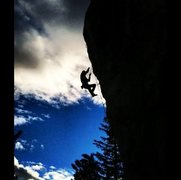 Rock Climbing Photo: Taking the ride on Electric sex! Photo taken by Ha...