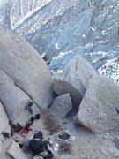 Rock Climbing Photo: Spacious and flat bivy ledge atop P5.