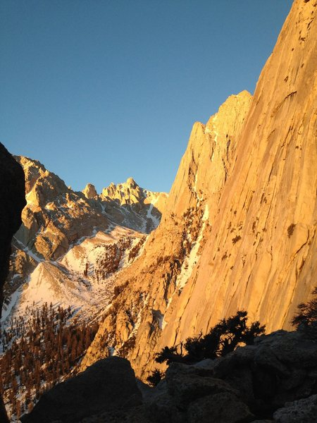 and an incredible winter sunrise on the South Face..