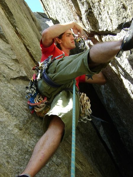 Rock Climbing Photo: P2 of Fruit Loops, Rumbling Bald
