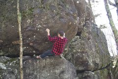 Rock Climbing Photo: On Eye of Narwhal in Grayson Highlands VA