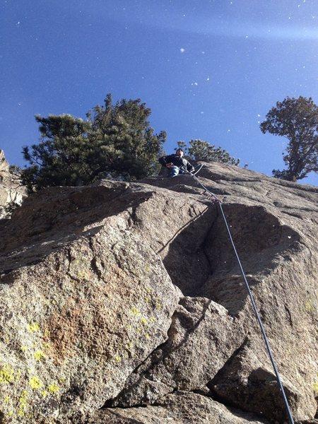 Rock Climbing Photo: Kevin at the top.