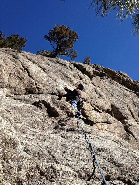 Rock Climbing Photo: Near the 1st bolt.