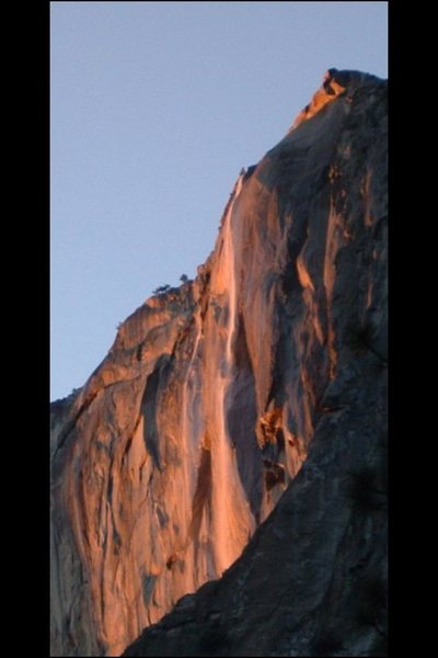 Rock Climbing Photo: Fire Falls!