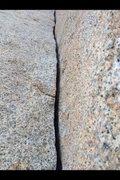 Rock Climbing Photo: Finger splitter!