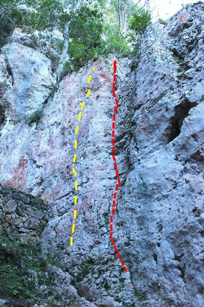Rock Climbing Photo: Candy Crush in red on right, Poppin Manos on left ...